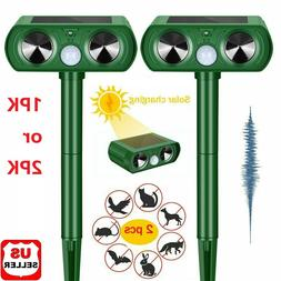 1/2 PK Animal Repeller Ultrasonic Solar Power Outdoor Pest C