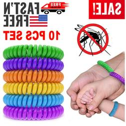 10 Pack Natural Mosquito Repellent Bracelet Wrist Band Bug I