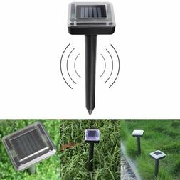 2* Solar Powered Ultrasonic Sonic Mouse Mole Pest Rodent Rep
