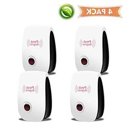 POP VIEW 2019 New Version Pest Repeller Plug in, 4PACK, Whit