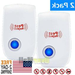 2pcs ultrasonic pest repeller bug mice rat