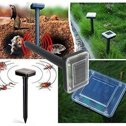 2x Solar Power Ultrasonic Sonic Mouse Mole Pest Rodent Repel