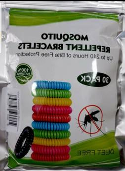 30 Pack Mosquito Repellent Bracelet Natural camping outdoor