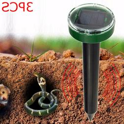 3PCS Solar Ultrasonic Snake Mouse Repellers Pest Rodent Repe