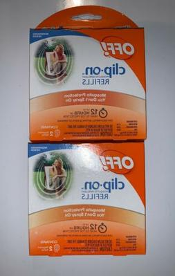 4 Replacement - OFF! Clip-On Mosquito Repellent Refills, 2 P