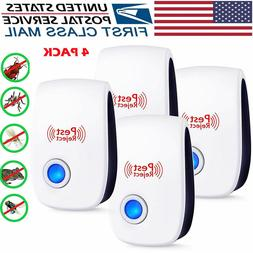 4PACK Ultrasonic Pest Repeller Plug in Repellent for Mice,Ra