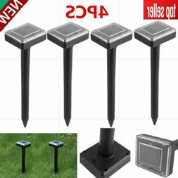 4X New Yard Solar Power Ultrasonic Sonic Mouse Mole Rodent R