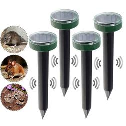 4x Solar Power Ultrasonic Sonic Mouse Gopher Mole Rat Rodent