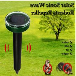 4x Solar Powered Ultrasonic Sonic Mouse Mole Pest Rodent Rep