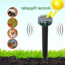 4x Solar Powered Ultrasonic Sonic Mouse Mole Pest Rodent Yar