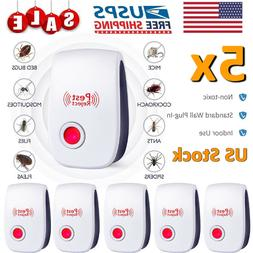 5 Pest Reject Pro Ultrasonic Repeller Home Bed Bug Mites Spi