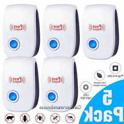 5x Ultrasonic Pest Repeller Plug in Control Electronic Repel