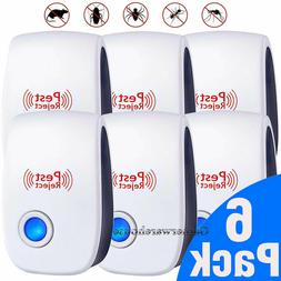 6 Pack Ultrasonic Pest Repeller Control Electronic Repellent
