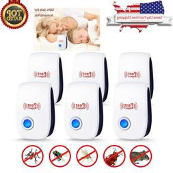 6 Pack Ultrasonic Pest Repeller Electronic Control Repellent