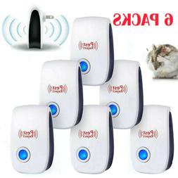 6 PACK Ultrasonic Pest Repeller Mosquito Cockroach Reject Mi