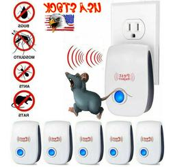 6Pack Pest Reject Electric Ultrasonic Repeller Bugs Mosquito