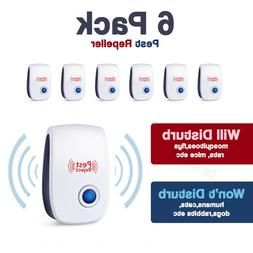 6pcs Ultrasonic Pest Reject Home Control Electronic Repellen