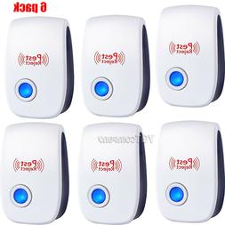 6x Electronic Ultrasonic Indoor Home Mice Bug Pest Repeller