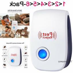 6x Ultrasonic Pest Repeller Plug in Control Electronic Repel