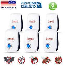 6XUltrasonic Pest Repeller Bug Mice Rat Spider Insect Repell