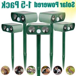 Animal Repellers Ultrasonic Solar Powered Outdoor Pest Cat D