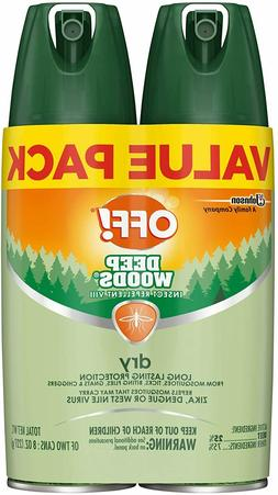 OFF! Deep Woods Insect Repellent VIII Dry, 4 oz.