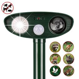 instecho Dog Repellent Ultrasonic, Outdoor Solar Powered and