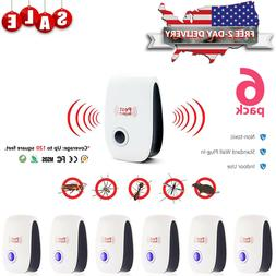 5x Electronic Ultrasonic Pest Reject Cockroach Rat Rodent Mi