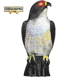 Hoont Garden Scarecrow Eagle Decoy with Scary Flashing Eyes