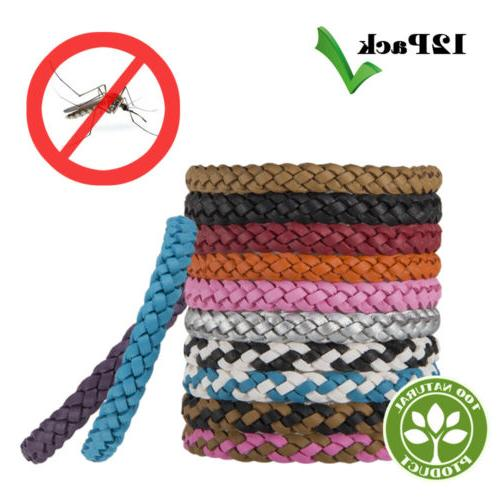 12pcs anti mosquito insect repellent wrist hair