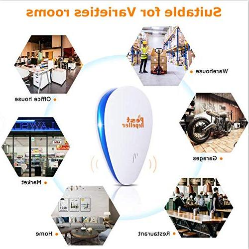 2019 Pest Ultrasonic Repellent Electronic Repeller Indoor in Insects Mice Ant Spider Rodent and Safe