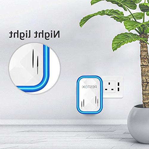 2019 Ultrasonic Pest Plug in 1 Electronic Pet Device - Electromagnetic Ultrasound -Repellent Mice Rats Mosquitos Spiders Rodents Insects-Indoor Outdoor