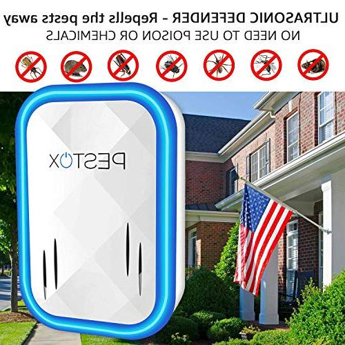 2019 Ultrasonic Pest Repeller Plug in Electronic Device - Ultrasound Control Mice Rats Mosquitos Rodents Insects-Indoor