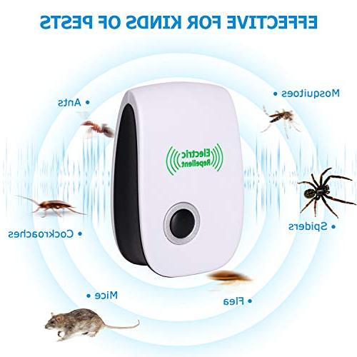 VEPOWER 2019 Upgraded Electronic Repellent, Pest Repeller Usage, Best Pest to Bugs, Ants, Mosquitoes, and