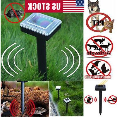 2pack solar powered ultrasonic sonic mouse mole