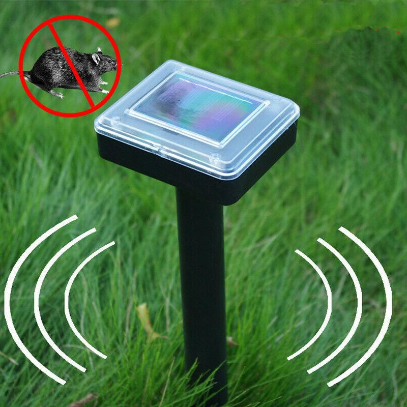 Solar Powered Sonic Repeller Repellent Mouse Mole Pest