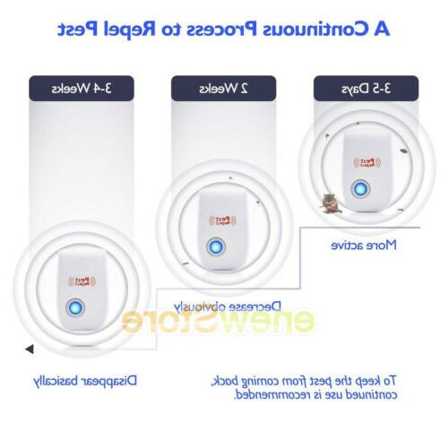 2x Indoor Ultrasonic Reject electromagnetic Anti Mosquito