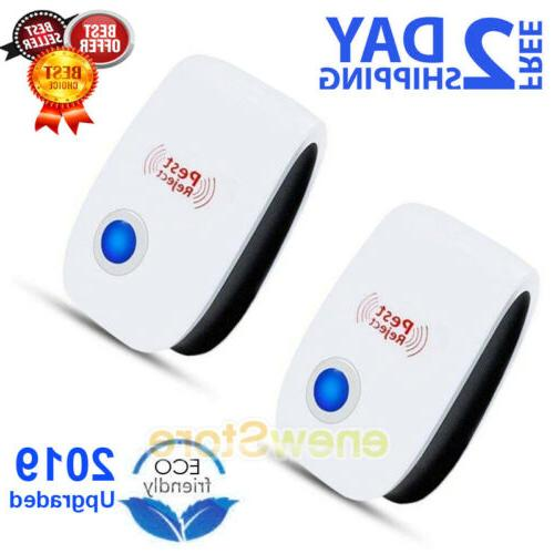 2x indoor ultrasonic pest reject electromagnetic repeller