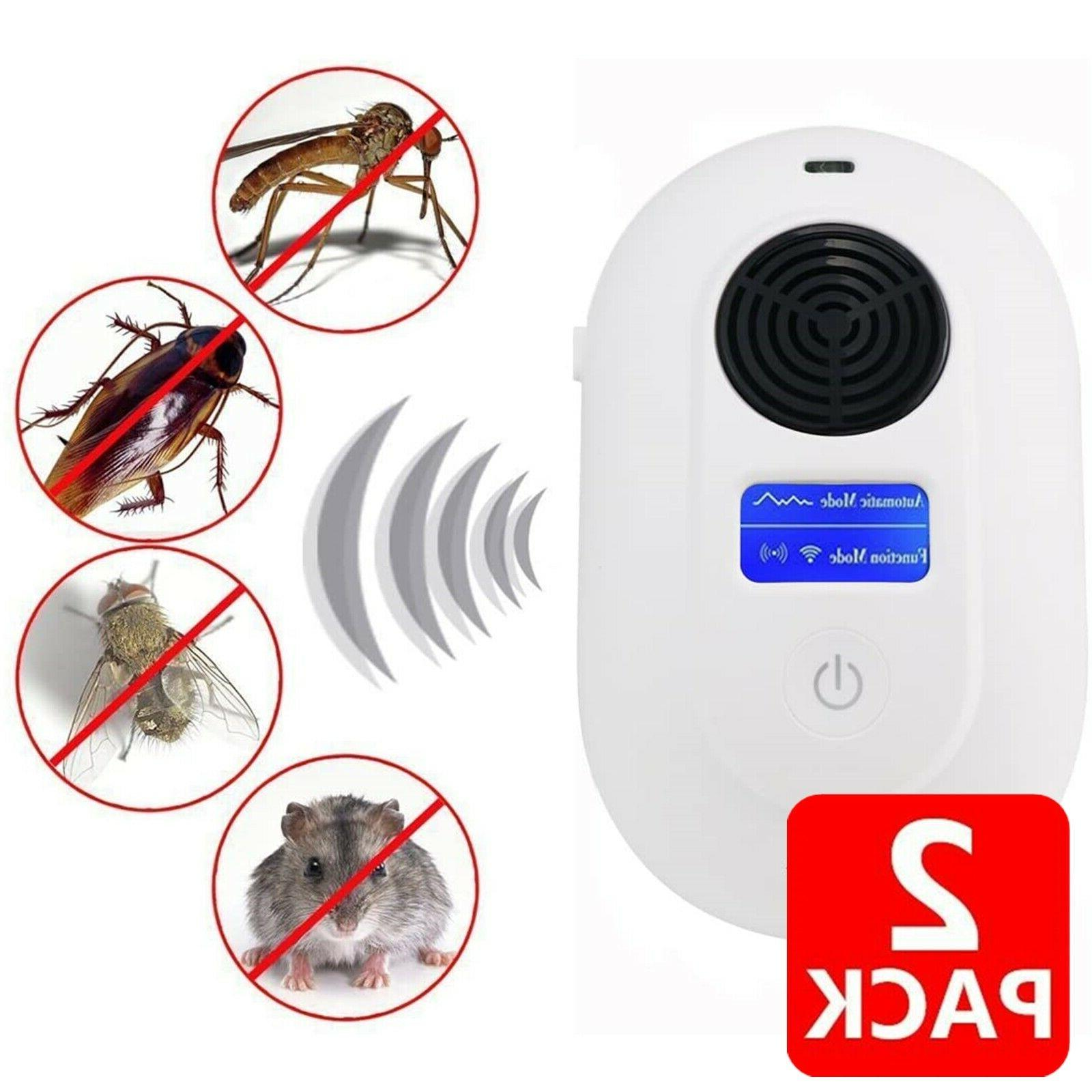 2x ultrasonic pest repeller electronic plug in