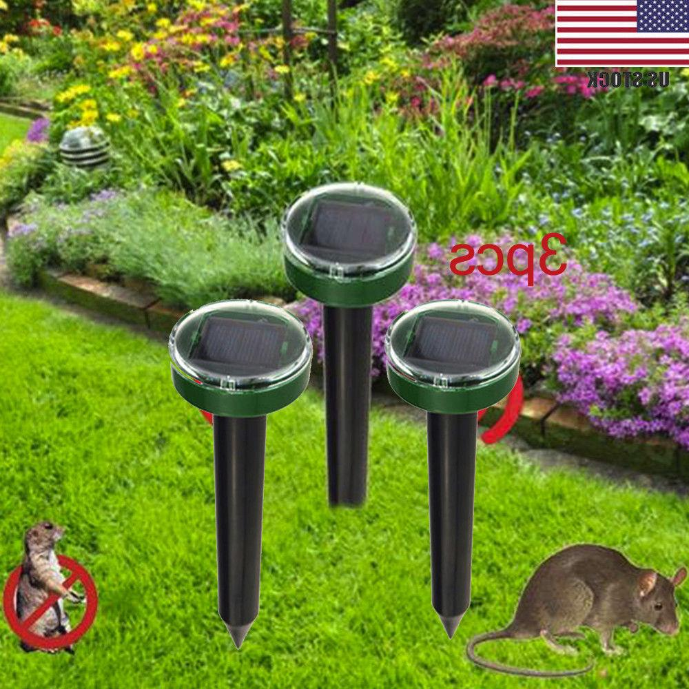3 pc solar ultrasonic snake mouse repellers