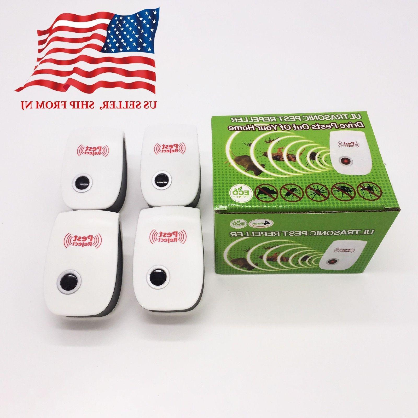 4 pcs electronic ultrasonic pest reject repeller