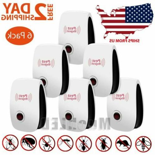 6 pack ultrasonic mosquito pest repellent mice