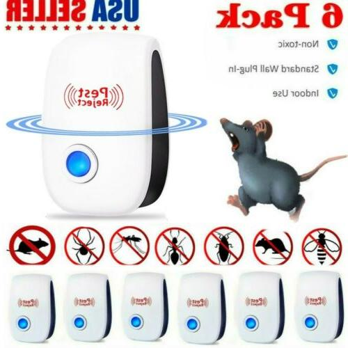 6 pack ultrasonic pest repeller control electronic