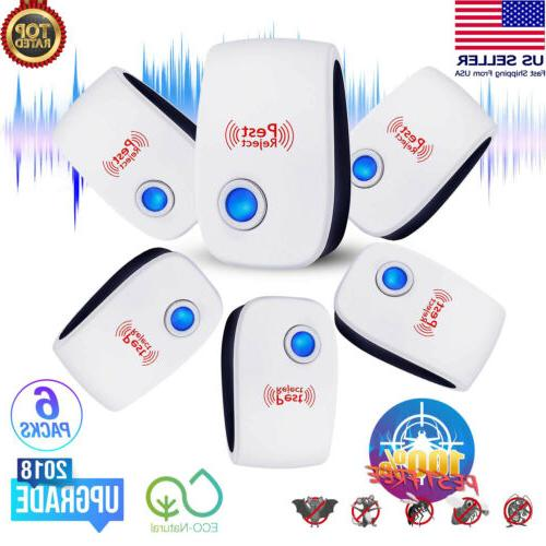 6 pack ultrasonic pest repeller electronic control
