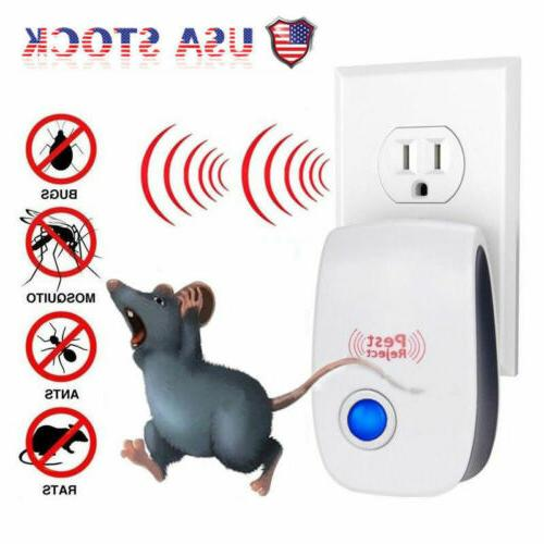 4x Electronic Ultrasonic Pest Reject Mosquito Cockroach Mous