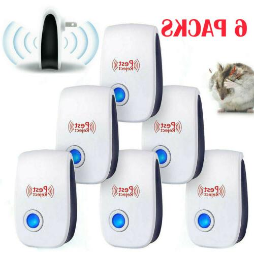 6 pack ultrasonic pest repeller mosquito cockroach