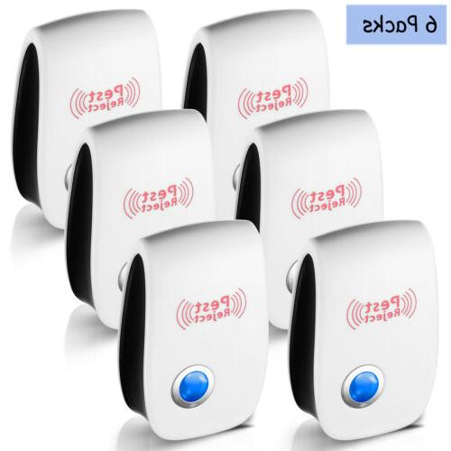 6pcs Ultrasonic Pest Reject Home Control Electronic Mice Rat