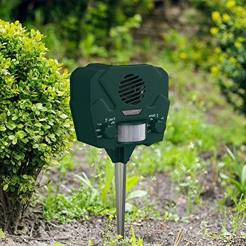 Hoont Solar Ultrasonic Outdoor Animal Pest + Strobe - Away All Pests Activated
