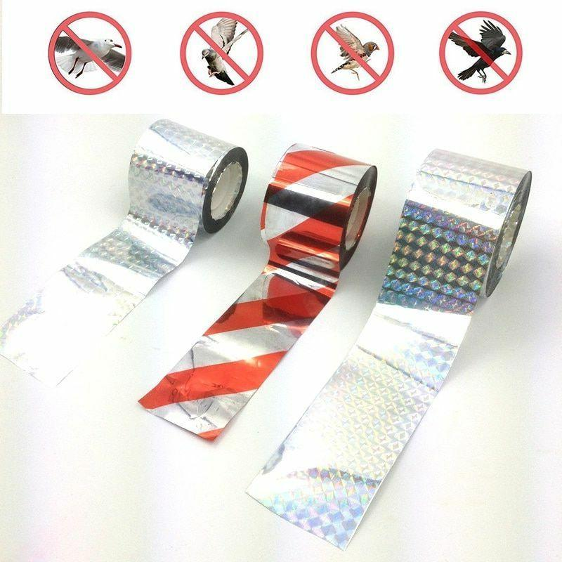 bird tape holographic design repellent double sided