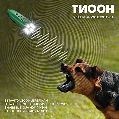 Hoont and Flashlight/Powerful Sonic + Ultrasonic Dog Stopper Dog Device/Protect from Aggressive Dogs +